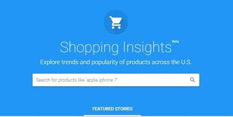 Google Shopping Insights Header