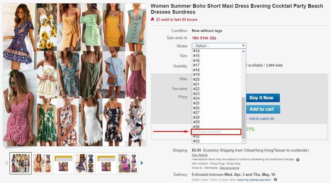 model dress screenshot